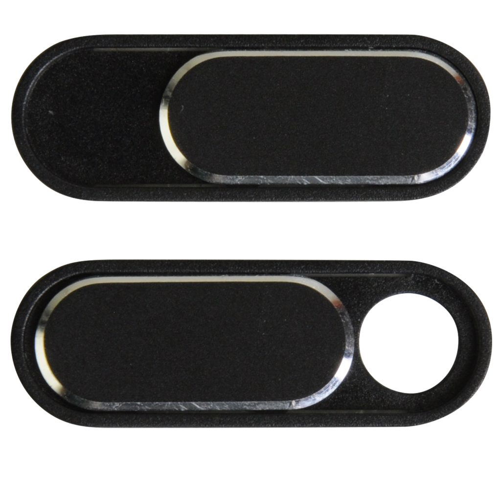 A picture of a black brandable webcam cover