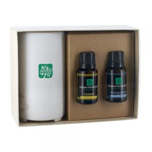 An example of an essential oils promotional gift set