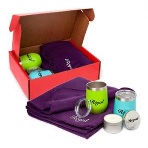 An example of a cozy relaxing promotional gift set